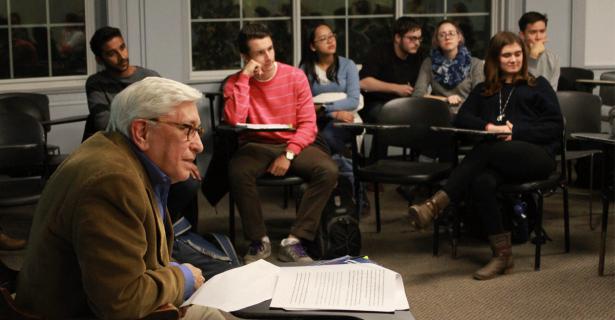 Brandeis University professor spoke with Institute for Global Leadership student groups on philosophy of development